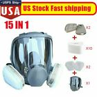 Full Face Gas Mask Painting Spraying Respirator w/Filters Kit for 6800 Facepiece