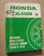 HONDA xl500_s _ OFFICINA-MANUALE DA 1979 _ SHOP MANUAL _ Manuel D 'Atelier _ taller