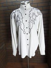 A.B.S. California Cowgirl/Rodeo Western Blouse with Piping Detail L*