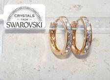 Orecchini da donna pl. oro giallo 18K zirconi cristalli swarovski veri SW4/2 tra