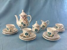 17 piece Blue Floral Miniature Porcelain Tea Set