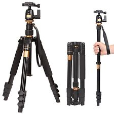 Q555 Monopod Ball Head Travel Camera Tripod Universal For Nikon Canon DSLR SLR