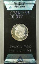 1882-CC GSA Morgan Silver Dollar Coin ANACS MS-62 DMPL Better Coin w/ Box & COA