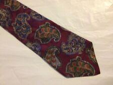 Mens Red Blue Brown Tie Necktie PRESWICK & MOORE ~ FREE US SHIP (5556)