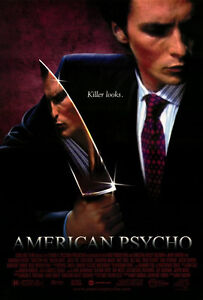 """AMERICAN PSYCHO Movie Poster [Licensed-New-USA] 27x40"""" Theater Size [Bale]"""