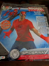 Easy Adult SPIDER-MAN COSTUME KIT Mask Gloves Chest Emblem NEW Men Marvel SPIDER