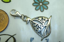 NEW Brighton etched sea sailboat sail boat ocean clasp lobster claw charm