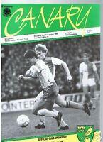 programme, 1985 Norwich City v Millwall, FREEPOST