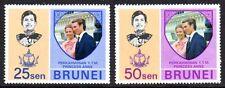 Brunei - 1973 Royal wedding Mi. 164-65 MNH
