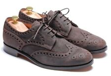 Cheaney Men`s Suede - Brown Distressed Brogues Shoes Size 8 F