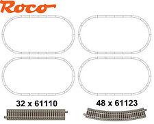 Roco H0 geoLine Piste ovale 80 pièces - NEUF #W7x4