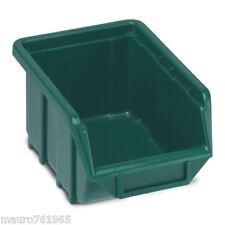 Terry ECOBOX 111 Contenitore porta minuterie plastica colore verde impilabile