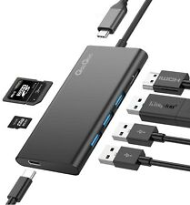 USB-C 7 in 1 Hub with Power Delivery 4K USB to HDMI Card Reader for MacBook pro