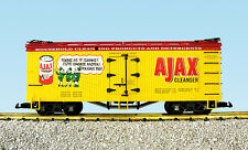 Usa Trains G Scale R16001 Reefer Ajax Cleanser Yellow/Red New Release