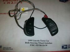 ✔GPU 1995 Lincoln Town Car BOTH Steering Wheel Switch s Pt# F50C-9D780-BAW  OEM