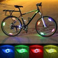 1pc Bike Light Bicycle Cycling Spoke Wire Tire Tyre Silicone LED Wheel Colorful