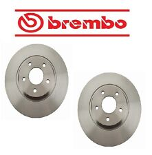 Pair Set of 2 Front Brake Disc Rotors PVT Coat Brembo for Chevy Saturn Pontiac
