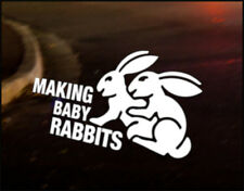 VW MAKING BABY RABBITS Car Decal Sticker JDM VW DUB Funny Golf GTI