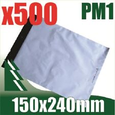 #1 x 500 Courier Bag Poly Mailer Satchel 150x240mm Self Seal