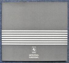 Ferrari Mondial Cabrio lf COCHE FOLLETO de ventas 1984 #313/84