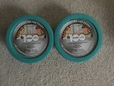 2 Pyrex 100 Anniversary Turquoise Blue Dot 4-Cups with Lids - NEW