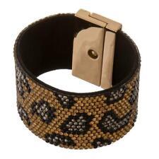 Gold rhinestone leopard bracelet