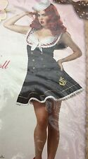 NEW Pin-up Girl Outfit Costume Sexy Shipmate Adult XL 12-14 Nautical Doll
