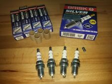 4x SAAB 9-3 Turbo 2.0i (B207L) y2007-2012 = Brisk YS Silver Upgrade Spark Plugs