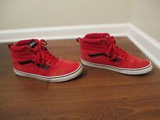Used Worn Size 13 Vans OTW Sk8 High Skateboard Shoes Red White Black