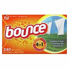 Bounce Outdoor Fresh Fabric Softener and Dryer Sheets, 240 Count New