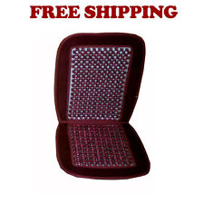 Brand New Car Truck SUV Van Wood Beaded Seat Support Cushion Color Burgundy Red