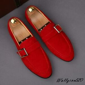 Chic Mens Driving Casual faux Suede Slip On Loafers Moccasin Boat Shoes