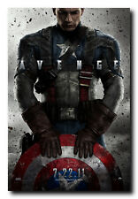 Captain America The First Avenger Movie Poster 24x36 Inch Wall Art Print