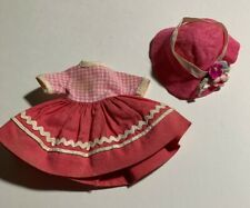 "Ac 8� Betsy McCall ""Recess Outfit� #8154 - 1959 Original Dress & Hat"