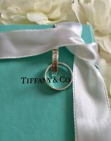 Authentic Genuine Tiffany & Co. Silver 1837 Interlocking Circles Ring Size 4