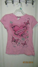 Youth Girls Large 14 L.A. Movers Girl Daddy's Girl Love Believe Shirt Butterfly