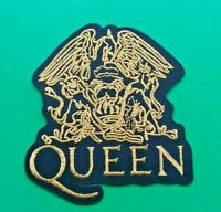 PUNK ROCK HEAVY METAL MUSIC SEW / IRON ON PATCH:- QUEEN FREDDIE MERCURY (GOLD)