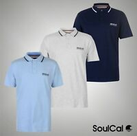 Mens SoulCal Sports Short Sleeves Signature Polo Shirt Top Sizes from S to XXXL