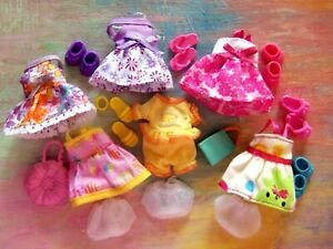 Kelly Doll Clothes *Lot of 5 Sun Dresses/Pajamas Set/Panties/Shoes/Purses 17pcs
