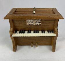 Vintage Mini Piano with 6 Wood Coasters Mid Century HG8