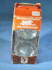 Ilco Unican #199-03-51 Crystal Glass Replacement Door Knobs w/Hardware Nos