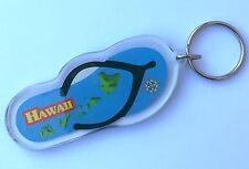Hawaii Map Acrylic Flip Flop Keychain FOB