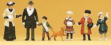 Preiser 12184 H0 Winterliche Passanten um 1900, 6 Figuren, handbemalt, Neu