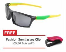 Vula Unisex Sports Sunglasses 2161 (Yellow) Bundle Free Car Sunglasses Clip