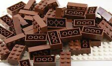 50x Lego® Steine Bausteine Bricks Pieces Parts No 3001 2x4 rotbraun NEU NEW City