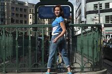 VEB Forster Damen Shirt T-Shirt 164 /36 kurzarm 80er True VINTAGE blau pink Netz
