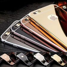 For iPhone 7 & iPhone 7 Plus Case - Luxury Chrome Metal TPU Mirror Cover