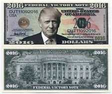 Donald Trump Federal Victory 2016 US Presidential Election Color Novelty Note