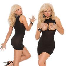 Completo Abito Vestito Aderente Mistress Dominatrice Clubwear Seno Scoperto Sexy