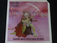 "Hydra Vein ""Rather Death Than False OF Faith"" Original LP. 1st pressing. RARE !"